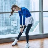 瑜伽褲女緊身高腰彈修身透氣速幹假兩件外穿顯瘦跑步訓練健身長褲