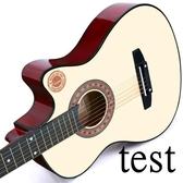 吉他38寸吉他民謠吉他木吉他初學者入門練習學生男女樂器 叮噹百貨