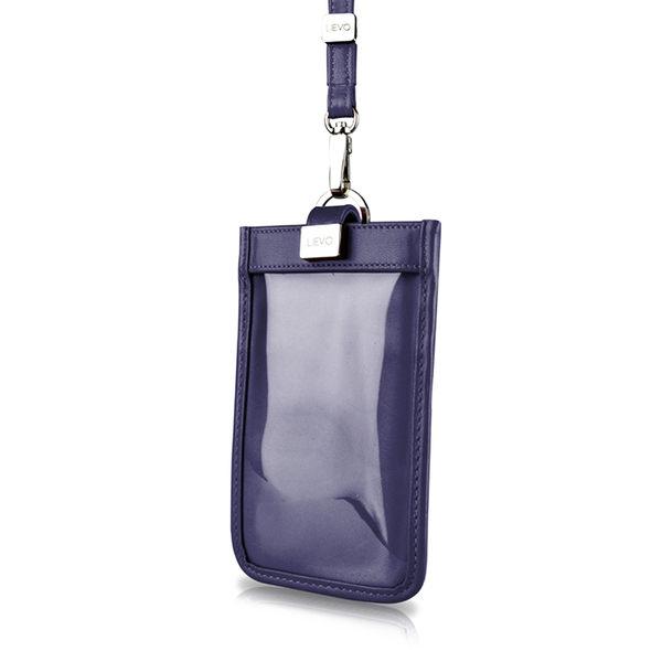 【LIEVO】 TOUCH - 頸掛式真皮手機套_午夜藍(iPhone XS / iPhone XS Max / Note 9 / 5.7 吋螢幕以下手機皆適用)