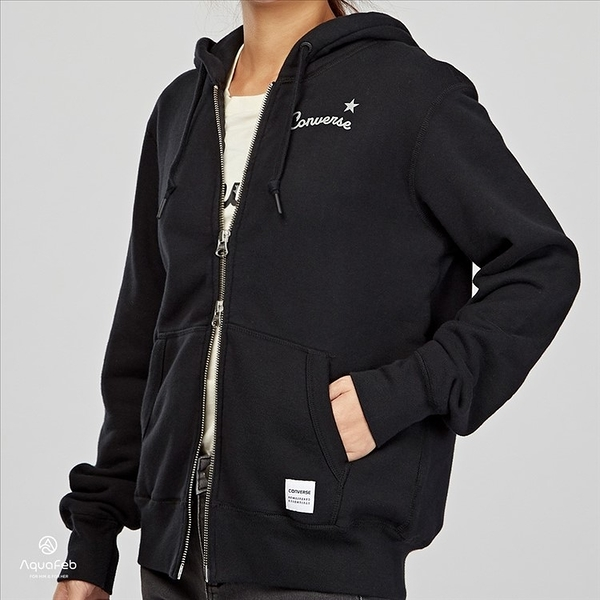 Converse Essentials Reflective 女子 黑色 毛圈內裏 連帽外套 10005623-A01