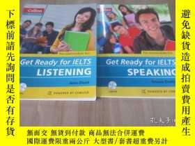 二手書博民逛書店英文書罕見Collins Get Ready for IELTS Speaking 共2本內附光盤 合售Y15