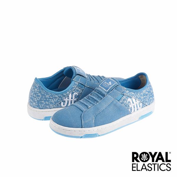 Royal Elastics x Hello Kitty Icon Washed 經典運動鞋-水洗藍