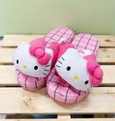【震撼精品百貨】Hello Kitty 凱蒂貓~三麗鷗 Hello kitty 夾腳室內拖鞋-桃格#11417