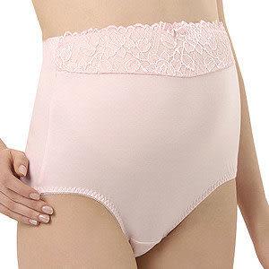 【奇買親子購物網】妮妮 NiNi 蕾絲高腰彈性內褲(米黃/粉色)