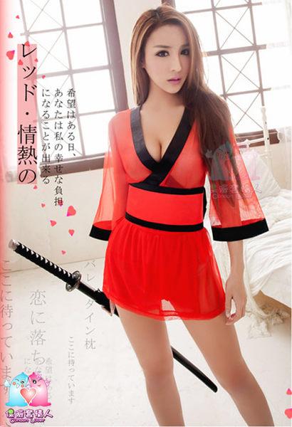【愛愛雲端】愛火蔓延!三件式 和服 角色扮演服 (紅) R8NA14030001-2