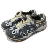 Merrell 涼拖鞋 All Out Blaze Sieve 灰 藍 黃 戶外拖鞋 水陸兩棲鞋款 女鞋 【PUMP306】 ML32826
