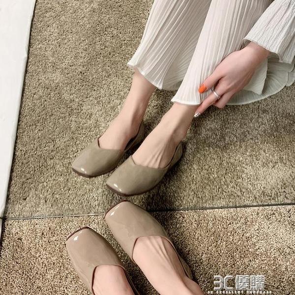 平底鞋 豆豆鞋女春秋新款百搭網紅學生奶奶鞋淺口平底仙女風晚晚單鞋 3C優購
