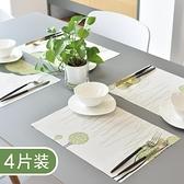 4片裝 家用餐墊隔熱墊西餐墊防油防燙水洗餐桌墊【輕奢時代】