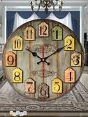 美式鐘錶簡北歐錶客廳創意潮流個性時尚鐘現代簡約復古掛鐘美容院 交換禮物