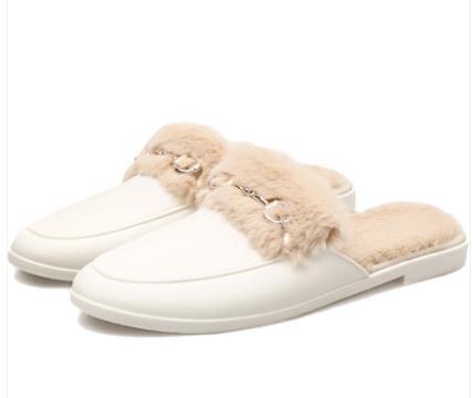 穆勒鞋鞋子女超火抖音樂福鞋ins潮懶人穿搭穆勒鞋平底拖鞋外穿公主豆豆 JUST M