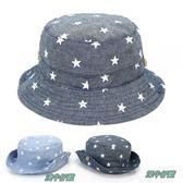 童帽 魚夫帽 遮陽帽 牛仔 單寧 大圓帽 二色 寶貝童衣