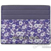茱麗葉精品【全新現貨】MICHAEL KORS Jet Set Travel 碎花信用卡名片夾.紫