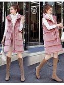 秋冬新款馬甲女中長款大碼顯瘦韓版寬鬆羽絨棉馬甲金絲絨棉衣外套 樂活生活館