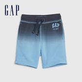 Gap男幼童 Logo漸層鬆緊短褲 542387-舒適藍