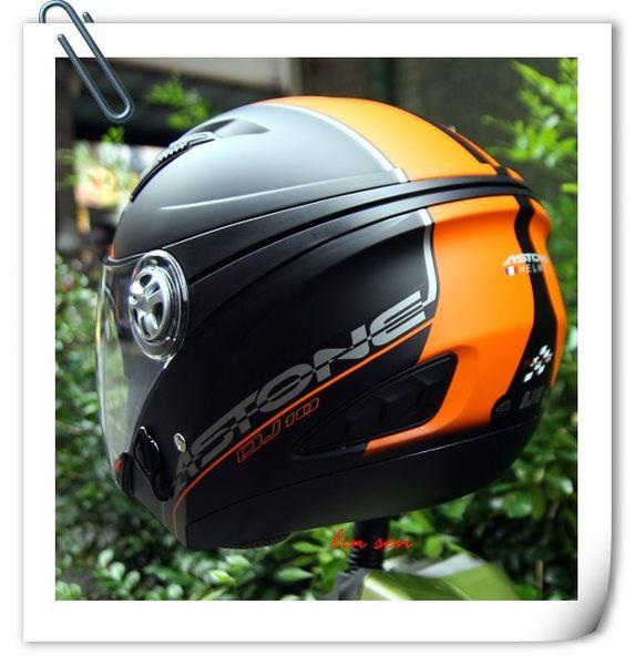 ASTONE安全帽,DJ10C,OO10/消光黑橘
