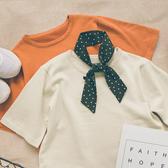 MUMU【T12563】純色圓領薄針織短袖上衣。七色