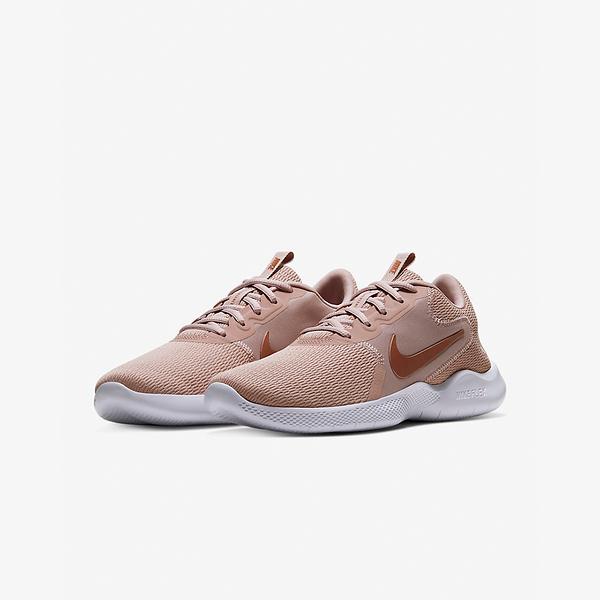 NIKE系列-W NIKE FLEX EXPERIENCE RN 9 女款粉金色運動慢跑鞋-NO.CD0227200