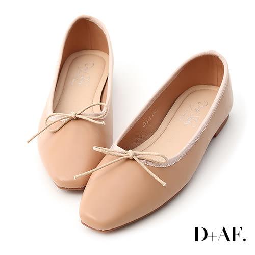 D+AF 氣質甜心.小方頭芭蕾平底娃娃鞋*粉