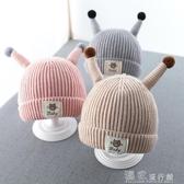 嬰兒帽嬰兒帽子秋冬季純棉新生幼兒童帽女寶寶護耳毛線6個月3男1歲 『獨家』流行館