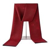 針織圍巾-經典提花羊毛百搭男披肩3色73wi45【時尚巴黎】