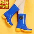 中筒雨靴雨鞋-可愛小動物時尚撞色女靴子鞋子3色66ak10【時尚巴黎】
