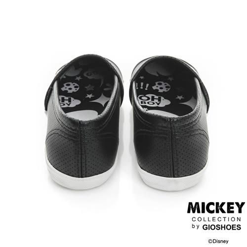 Disney 甜美世代 米奇飾釦仿皮懶人鞋-兩色