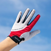 運動手套【清倉特價】戶外男女運動騎行登山防滑全指手套薄款網眼透氣防曬 伊蒂斯