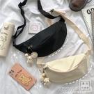 韓國ins少女帆布小包包 日系復古可愛軟妹學生胸包女百搭chic腰包『新佰數位屋』