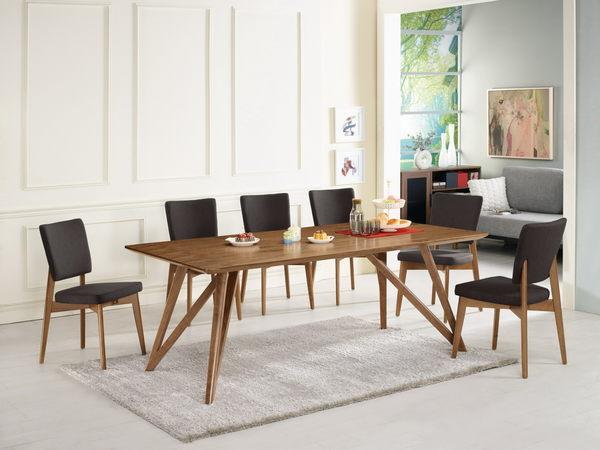 【森可家居】艾利克6.6尺胡桃餐桌(不含椅) 7CM428-1 實木皮 北歐風