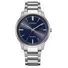 【台南 時代鐘錶 CITIZEN】星辰 光動能 PAIR 對錶 日期 光動能 鋼錶帶男錶 BM7521-85L 藍 39mm