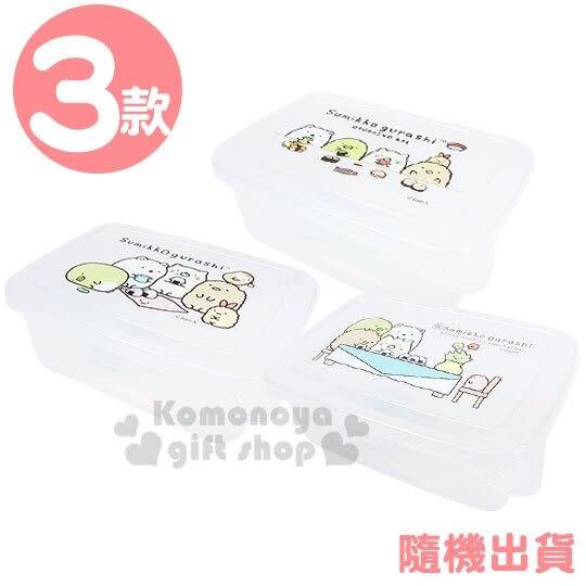 〔小禮堂〕角落生物 方形透明塑膠保鮮盒《3款隨機.棕/綠》餅乾盒.零食盒 4713077-26514