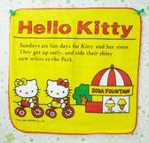 【震撼精品百貨】Hello Kitty 凱蒂貓~方巾/毛巾-騎腳踏車造型