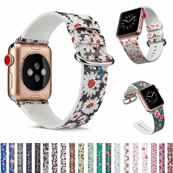 Apple Watch Series 錶帶 S6錶帶 S5錶帶 S4錶帶 S3錶帶 鄉村風碎花 蘋果錶帶 38mm 40mm 42mm 44mm
