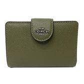 【COACH】新款經典LOGO鈔票零錢袋中夾(橄欖綠)