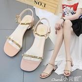 高跟涼鞋透明涼鞋女夏季配裙子穿的鞋2021年新款百搭仙網紅高跟羅馬鞋 小天使