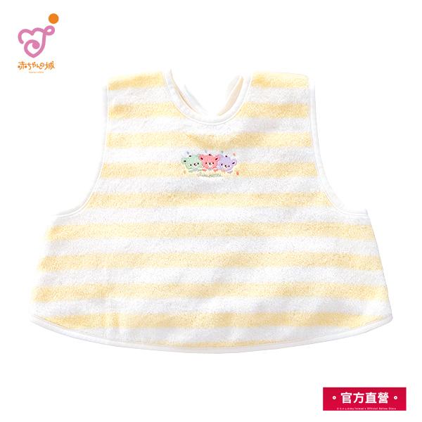日本製 幼兒純綿圍兜 (黃色)