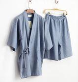 日式男士全棉紗布和服睡衣汗蒸服【轉角1號】