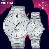 ALBA雅柏簡約時尚情人對錶AS9E95X1/AH7P75X1公司貨