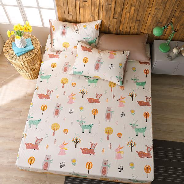 鴻宇 雙人床包組 森林派對 美國棉授權品牌 台灣製2223