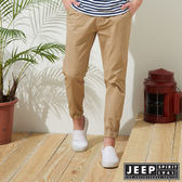【JEEP】美式休閒縮口長褲-卡其