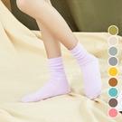 日系純色清涼大人中筒襪 襪子 中筒襪 大人襪