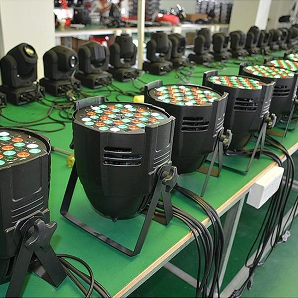 舞台燈光54顆3W帕燈全彩三合一 led七彩燈設備酒吧婚慶演出面光燈YXS 七色堇