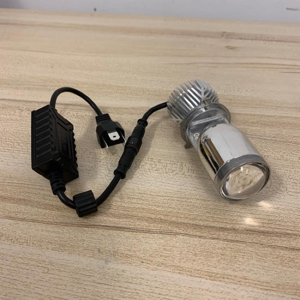 超亮魚眼大燈LED大燈機車燈泡汽車大燈自帶透鏡霧燈(777-5383)