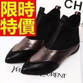 真皮短靴-魅力好搭迷人高跟女靴子2色62d88[巴黎精品]