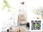 蠟燭台 歐式創意家居浪漫白色鳥籠燭台西餐廳桌面裝飾品擺件燭光晚餐擺設 玫瑰女孩