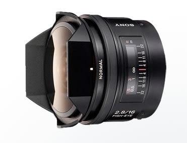 SONY 16mm F2.8 Fisheye 數位單眼相機鏡頭 SAL16F28