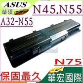 華碩電池(保固最久)-ASUS電池 N45,N55,N75,N75SF,N75SJ,N75SL,N75SN,N75SV,A32-N55,A42-N55