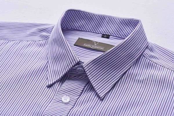 【Emilio Valentino】范倫鐵諾雅致時尚條紋襯衫_紫條紋