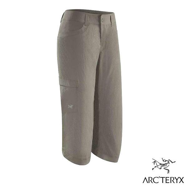 始祖鳥【Arc'teryx】Parapet Capri 女七分排汗褲 水瀨褐 17120