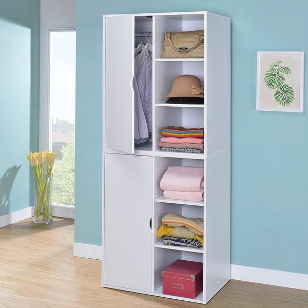 ONEHOUSE居家-三格一門衣櫥 小空間衣櫃 二入組 收納衣櫃 /收納櫃
